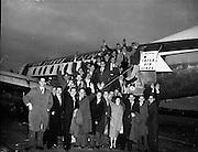 Dart Team (Rochdale) arrive at Dublin Airport.23/10/1959