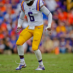 Oct 12, 2013; Baton Rouge, LA, USA; LSU Tigers safety Craig Loston (6) against the Florida Gators during the second half of a game at Tiger Stadium. LSU defeated Florida 17-6. Mandatory Credit: Derick E. Hingle-USA TODAY Sports