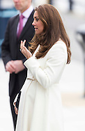 Her Royal Highness the Duchess of Cambridge arrives for a reception at the Spinnaker Tower in Portsmouth in her capacity as patron of the 1851 Trust. The trust aims to inspire young people into sailing and the marine industry. <br /> Picture date: Thursday February 12, 2015.<br /> Photograph by Christopher Ison &copy;<br /> 07544044177<br /> chris@christopherison.com<br /> www.christopherison.com