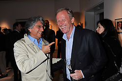 Left to right, HOSSEIN AMIRSADEGHI and RICHARD HUDSON at the launch Sanctuary, Britains Artists and their Studios held at Christies, 8 King Street, St.James's, London on 13th March 2012.