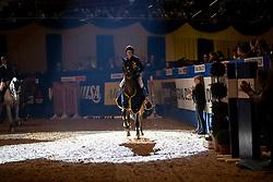 JUNG Michael (GER), fischerChelsea<br /> Dortmund - Signal Iduna Cup 2019<br /> Siegerehrung<br /> Preis von Nordrhein-Westfalen<br /> Int. Springprüfung Kl. S CSI4* große Tour<br /> 08. März 2019<br /> © www.sportfotos-lafrentz.de/Stefan Lafrentz