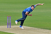 Matt Coles (Kent) bowling during the Royal London 1 Day Cup match between Surrey County Cricket Club and Kent County Cricket Club at the Kia Oval, Kennington, United Kingdom on 12 May 2017. Photo by Jon Bromley.