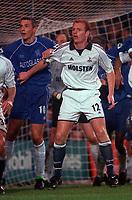 Gary Doherty (Tottenham) and slavisa Jokanovic (Chelsea). Chelsea v Tottenham Hotspur. FA Premiership 28/10/00. Credit: Colorsport / Andrew Cowie.