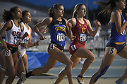 Oksana Covey (1146) of South Dakota State runs in the women's 800m during the NCAA West Track & Field Preliminary, Thursday, May 23, 2019, in Sacramento, Calif.