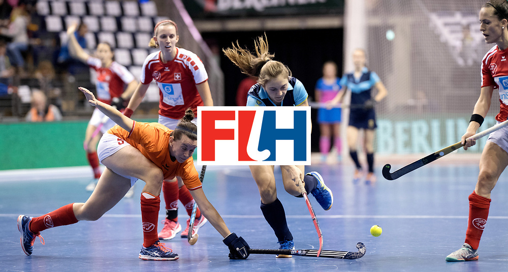 BERLIN - Indoor Hockey World Cup<br /> Quarterfinal 2: Ukraine - Switzerland<br /> foto: HONCHARENKO Olha.<br /> WORLDSPORTPICS COPYRIGHT FRANK UIJLENBROEK