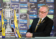 Auchinleck Talbot Director Colin Chisholm looks at the William Hill Scottish Cup after his junior club were handed an away tie to SPL Hearts in the 4th round draw at Hampden Park.. .- © David Young -.5 Foundry Place - .Monifieth - .Angus - .DD5 4BB - .Tel: 07765 252616 - .email: davidyoungphoto@gmail.com - .http://www.davidyoungphoto.co.uk