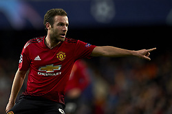 December 12, 2018 - Valencia, Spain - Juan Mata of Manchester United gives instructions during the match between Valencia CF and Manchester United at Mestalla Stadium in Valencia, Spain on December 12, 2018. (Credit Image: © Jose Breton/NurPhoto via ZUMA Press)