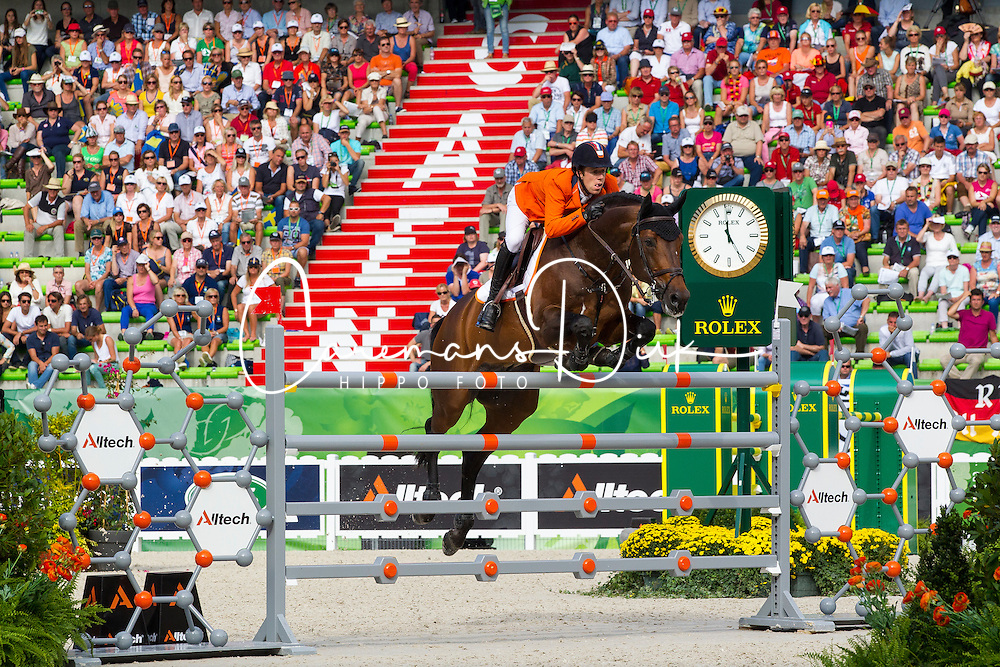 Maikel Van Der Vleuten, (NED), VDL Groep Verdi TN NOP, World Champions, - Second Round Team Competition - Alltech FEI World Equestrian Games&trade; 2014 - Normandy, France.<br /> &copy; Hippo Foto Team - Leanjo De Koster<br /> 25/06/14