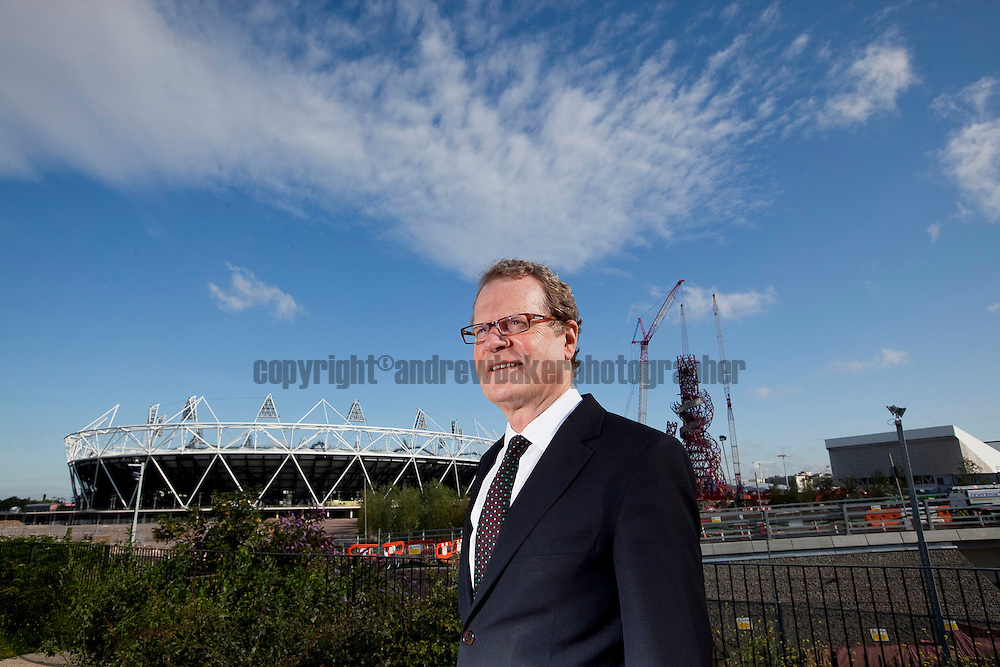 Job Ref:Clive Dutton Director of Regeneration and The London Borough of Newham, in front of the Olympic Park, with Just over a year until the Start of the Olympic Games. 22nd July 2011..©Andrew Baker Photographer.07977074356