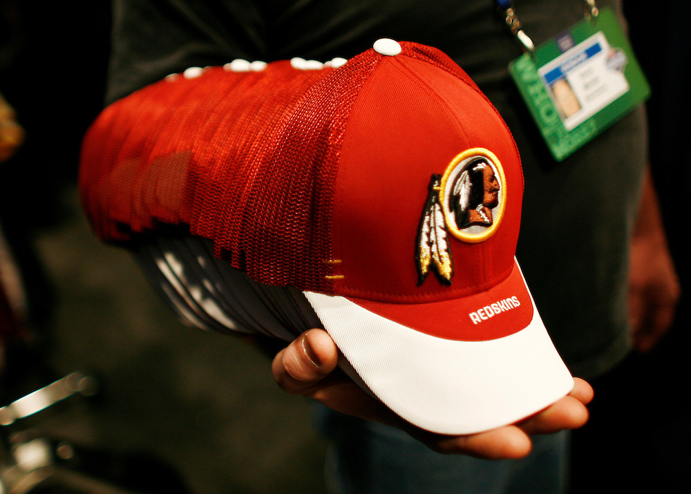 NEW YORK - APRIL 28: A general view of Washington Redskin hats during the 2007 NFL Draft on April 28, 2007 at Radio City Music Hall in New York, New York.