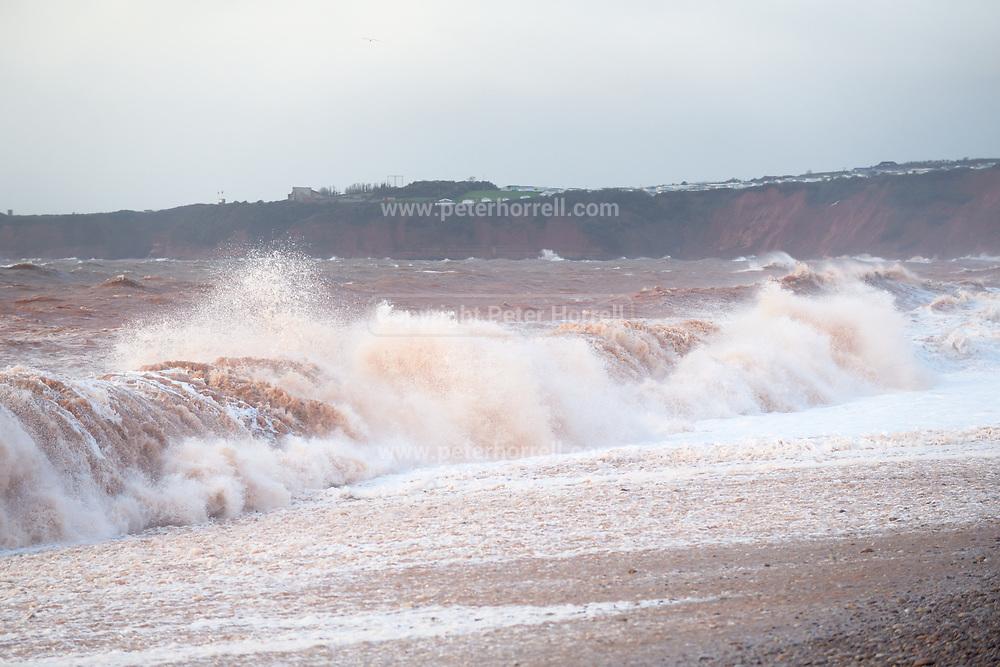 Big waves hit Budleigh Salterton beach on Thursday 29th November 2018.