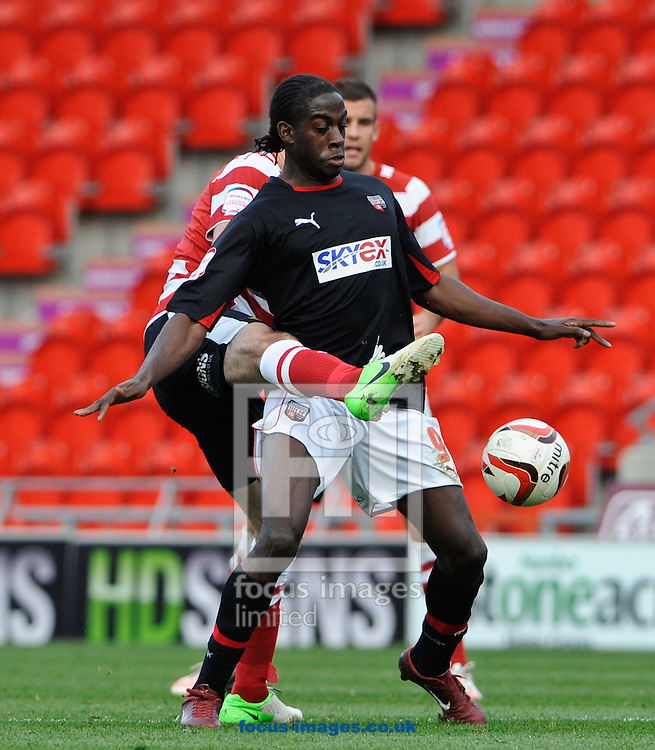Picture by Richard Land/Focus Images Ltd +44 7713 507003.20/10/2012.Clayton Donaldson of Brentford during the npower League 1 match at the Keepmoat Stadium, Doncaster.