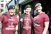 Supporters of Soldier F during the demonstration in support of Soldier F by former service personnel in Central Manchester on 19 April 2019.