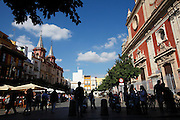 Plaza del Salvador, Seville, Andalucia, Spain.<br /> Photo: Zute Lightfoot
