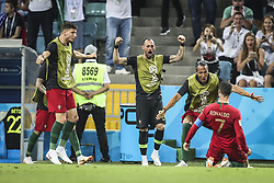 June 15, 2018 - Na - Sochi, 06/15/2018 - The national team of Portugal faced Spain today in Group B play in the final phase of the 2018 World Cup. Portugal goal scored by Cristiano Ronaldo. (Credit Image: © Atlantico Press via ZUMA Wire)