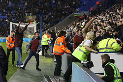 Aston Villa fans celebrate, Goal, Jordan Ayew of Aston Villa scores from the penalty spot, Reading 1-2 Aston Villa - Mandatory by-line: Jason Brown/JMP - 18/10/2016 - FOOTBALL - Madejski Stadium - Reading, England - Reading v Aston Villa - Sky Bet Championship
