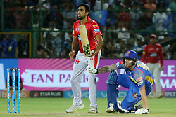 May 8, 2018 - Jaipur, Rajasthan, India - Rajasthan Royals batsman Ben Stokes plays a shot  during the IPL T20 match against Kings XI Punjab at Sawai Mansingh Stadium in Jaipur,Rajasthan,India on 8th May,2018.(Photo By Vishal Bhatnagar/NurPhoto) (Credit Image: © Vishal Bhatnagar/NurPhoto via ZUMA Press)