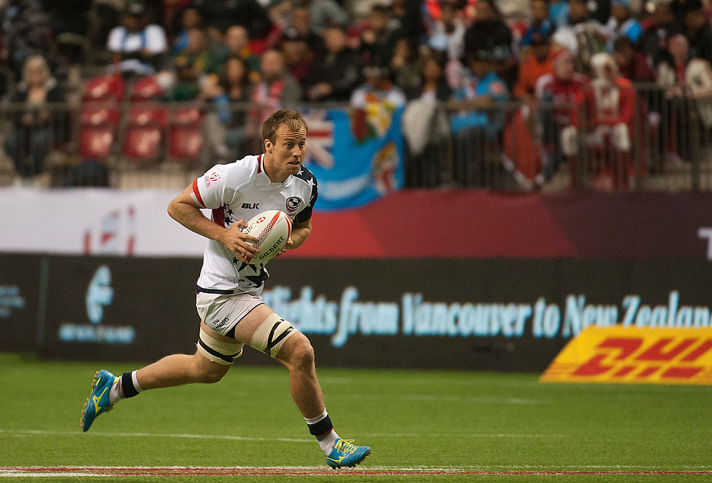 Ben Pinkelman of the United States against Japan during the pool stages of the Canada Sevens,  Round Six of the World Rugby HSBC Sevens Series in Vancouver, British Columbia, Saturday March 11, 2017. <br /> <br /> Jack Megaw.<br /> <br /> www.jackmegaw.com<br /> <br /> jack@jackmegaw.com<br /> @jackmegawphoto<br /> [US] +1 610.764.3094<br /> [UK] +44 07481 764811