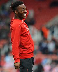 Liverpool's Raheem Sterling - Photo mandatory by-line: Nizaam Jones/JMP - Mobile: 07966 386802 - 24/05/2015 - SPORT - Football - Stoke - Britannia Stadium - Stoke City v Liverpool - Barclays Premier League