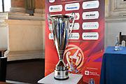 coppa<br /> presentazioe supercoppa 2018<br /> Legabasket Serie A 2018/19<br /> Brescia, 24/09/2018<br /> Ciamillo-Castoria