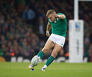 Cardiff, Wales, Great Britain, Ian MADIGAN with the final penalty, during the Pool D game, France vs Ireland.  2015 Rugby World Cup,  Venue, Millennium Stadium, Cardiff. Wales   Sunday  11/10/2015.   [Mandatory Credit; Peter Spurrier/Intersport-images]