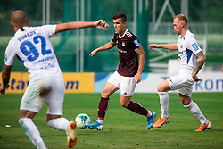 Egzon Kryeziu of Triglav during football match between NK Triglav and NK Celje in 7th Round of Prva liga Telekom Slovenije 2019/20, on August 25, 2019 in Sports park, Kranj, Slovenia. Photo by Vid Ponikvar / Sportida