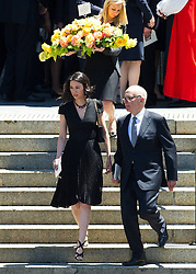 News Corporation Chairman and CEO Rupert Murdoch (R) and his wife Wendi Deng leave the public memorial service for his mother Elisabeth Murdoch at St Pauls Cathedral in Melbourne, Australia, December 18, 2012. Photo by Imago / i-Images...UK ONLY