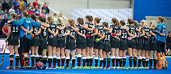 The German team line up before the match. Germany v Spain - 3rd/4th Playoff Unibet EuroHockey Championships, Lee Valley Hockey & Tennis Centre, London, UK on 30 August 2015. Photo: Simon Parker