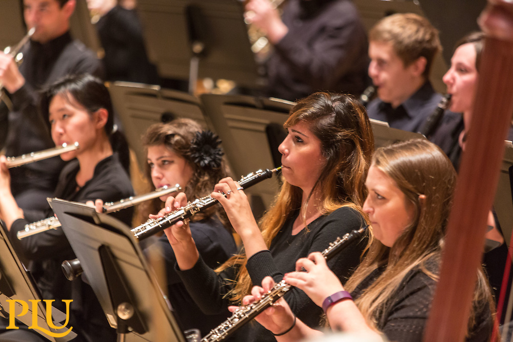 PLU Symphony Orchestra, Monday, Oct. 10, 2016. (Photo: John Froschauer/PLU)
