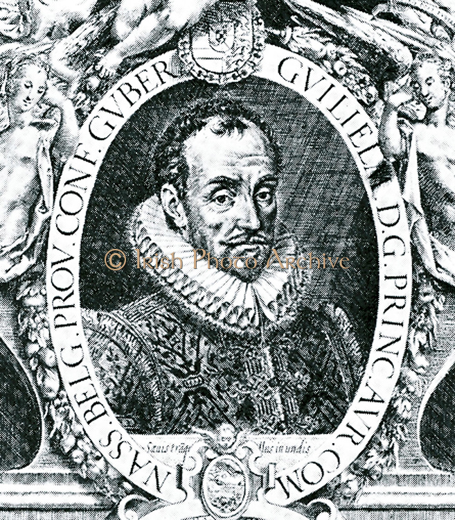 William I, Prince of Orange (24 April 1533 – 10 July 1584), also widely known as William the Silent Engraving by Cornelis Theodoor Boissens circa (1635)