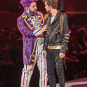 NLD/Amsterdam/20171223 - The Christmas Show 2017 in de Ziggo Dome, Martijn Fischer en Buddy Vedder