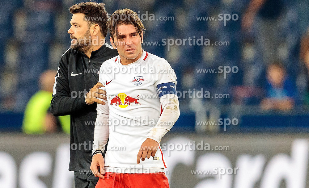 24.08.2016, Red Bull Arena, Salzburg, AUT, UEFA CL, FC Red Bull Salzburg vs Dinamo Zagreb, Play off, Rueckspiel, im Bild Co Trainer Ruben Martinez (FC Red Bull Salzburg), Jonatan Soriano (FC Red Bull Salzburg) // during the UEFA Championsleague Play off 2nd Leg Match between FC Red Bull Salzburg and Dinamo Zagreb at the Red Bull Arena in Salzburg, Austria on 2016/08/24. EXPA Pictures © 2016, PhotoCredit: EXPA/ JFK