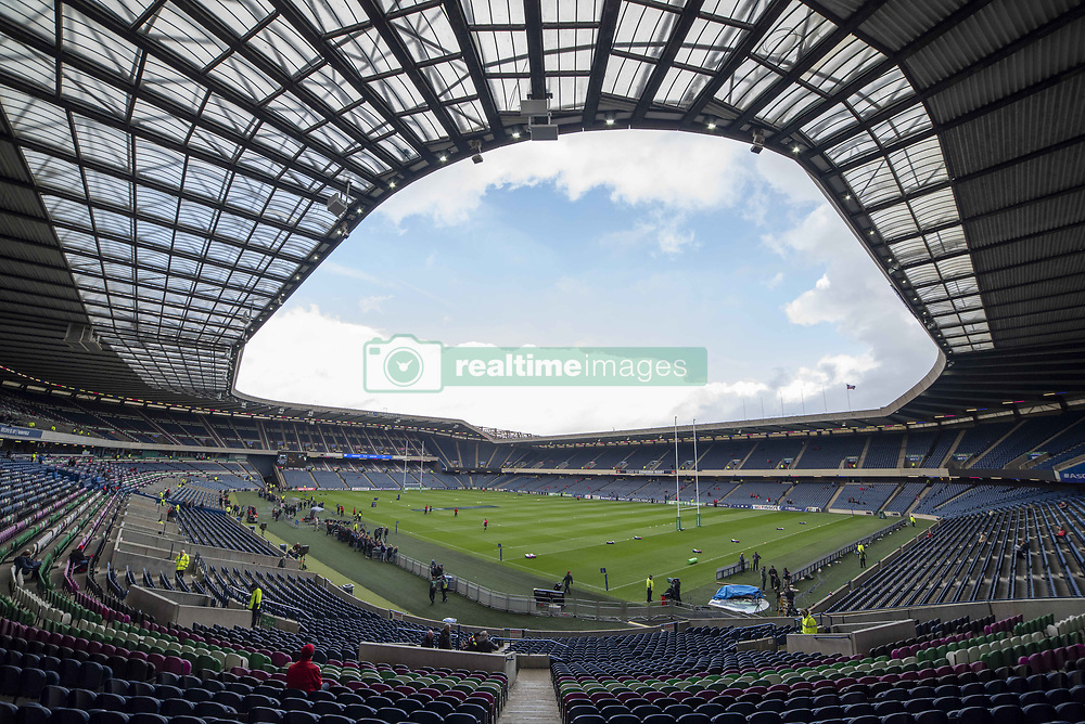 March 30, 2019 - Edinburgh, Scotland, United Kingdom - A general view of the Murrayfiled Stadium during the Heineken Champions Cup Quarter Final match between Edinburgh Rugby and Munster Rugby at Murrayfield Stadium in Edinburgh, Scotland, United Kingdom on March 30, 2019  (Credit Image: © Andrew Surma/NurPhoto via ZUMA Press)