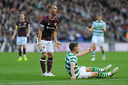Ryan Christie wins soft penalty for Celtic during the Betfred Semi-Final Cup match between Heart of Midlothian and Celtic at Murrayfield, Edinburgh, Scotland on 28 October 2018.