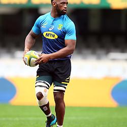 DURBAN, SOUTH AFRICA - AUGUST 17: Siya Kolisi (captain) of South Africa during the South African national rugby team captains run at Jonsson Kings Park on August 17, 2018 in Durban, South Africa. (Photo by Steve Haag/Gallo Images)