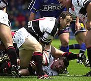 26/05/2002.Sport -Rugby Union - Parker Pen Shield Final.Sale vs Pontypridd.. Pontypridd captain - Paul John   [Mandatory Credit, Peter Spurier/ Intersport Images].