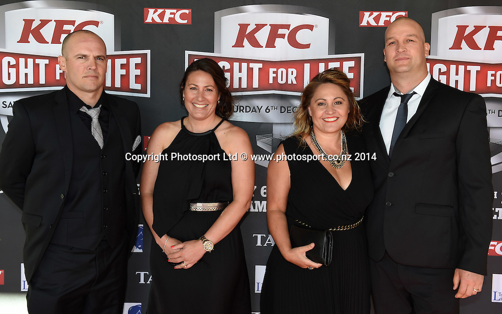 Guests arrive at the KFC Fight For Life Boxing by Duco Events at the Claudelands Arena in Hamilton. New Zealand. Saturday 6 December 2014. Photo: Andrew Cornaga/www.photosport.co.nz.