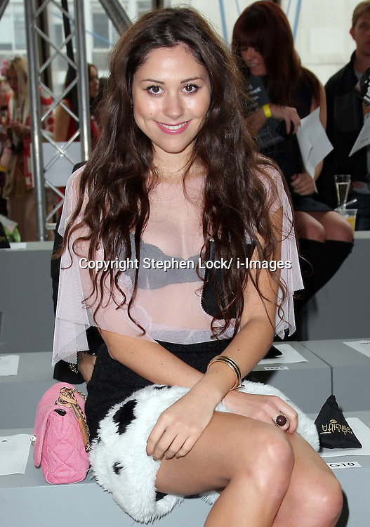 Eliza Doolittle at the Topshop  Unique show at London Fashion Week, Sunday 18th September 2011 Photo by: Stephen Lock/i-Images