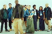 A group of people, including Roots Manuva, UK 1990's