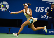 Madison Keys of the United States in action during her first round match at the 2018 US Open Grand Slam tennis tournament, at Billie Jean King National Tennis Center in Flushing Meadow, New York, USA, August 28th 2018, Photo Rob Prange / SpainProSportsImages / DPPI / ProSportsImages / DPPI