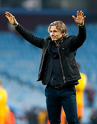 Wycombe Wanderers Manager Gareth Ainsworth thanks his sides fans after a 2-0 loss - Mandatory byline: Rogan Thomson/JMP - 19/01/2016 - FOOTBALL - Villa Park Stadium - Birmingham, England - Aston Villa v Wycombe Wanderers - FA Cup Third Round Replay.