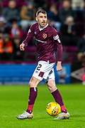 Michael Smith (#2) of Heart of Midlothian FC during the Ladbrokes Scottish Premiership match between Heart of Midlothian FC and Livingston FC at Tynecastle Park, Edinburgh, Scotland on 4 December 2019.