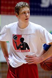 Jaka Blazic at practice of KK Slovan basketball team, on February 3, 2010 in Arena Kodeljevo, Ljubljana, Slovenia.  (Photo by Vid Ponikvar / Sportida)
