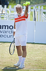 LIVERPOOL, ENGLAND - Saturday, June 22, 2019: Mansour Bahrami (IRN) during Day Three of the Liverpool International Tennis Tournament 2019 at the Liverpool Cricket Club. (Pic by David Rawcliffe/Propaganda)