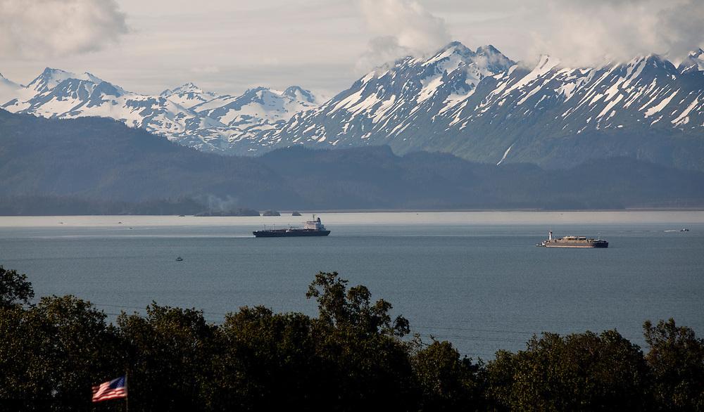 Alaska2010.-Tankers in Kachemak Bay AK.