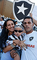 botafogo fan at the final of the soccer rio state championship 2007 between flamengo and botafogo in the maracana stadium in rio de janeiro brazil