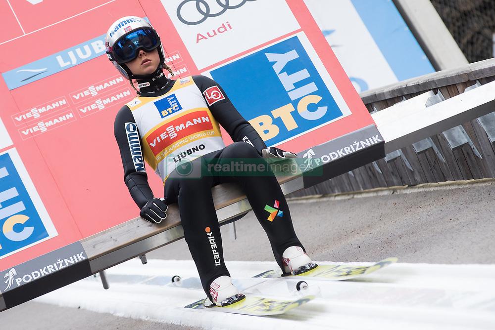 February 8, 2019 - Ljubno, Savinjska, Slovenia - Katra Komar of Slovenia warming up before first competition day of the FIS Ski Jumping World Cup Ladies Ljubno on February 8, 2019 in Ljubno, Slovenia. (Credit Image: © Rok Rakun/Pacific Press via ZUMA Wire)