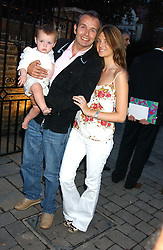 Club owner PIERS ADAM with his wife SOPHIE and their son BERTIE at the opening party of the new Frankie's Italian Bar and Grill hosted by Frankie Dettori, Marco Pierre White and Edward Taylor at 68 Chiswick High Road, London W4 on 1st September 2005.<br />