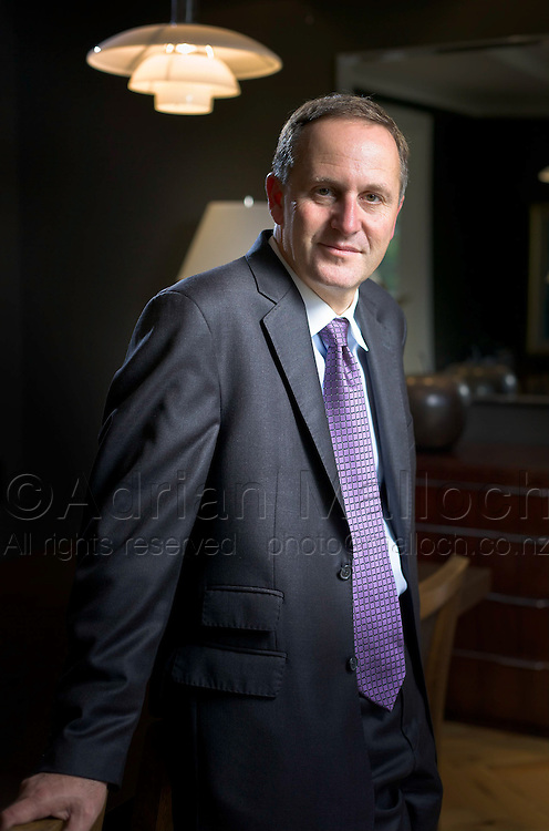 The New Zealand Prime minister John Key, photographed in his Parnell mansion.