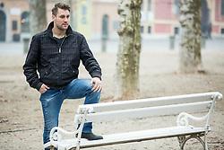 Portrait if ice hockey goalie Robert Kristan - Lix of Slovenia, on February 15, 2017 in Ljubljana, Slovenia. Photo by Vid Ponikvar / Sportida